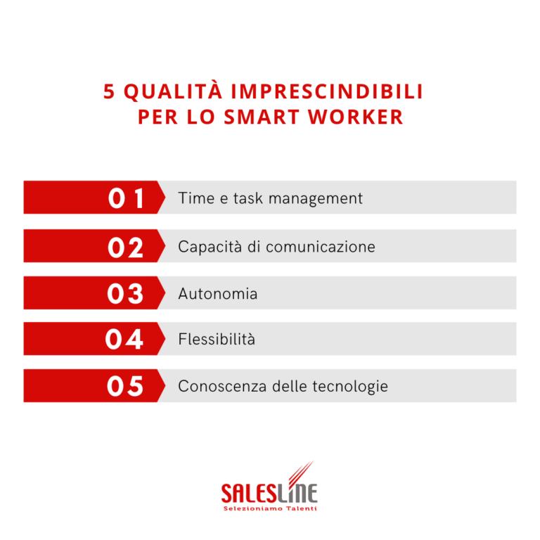 5 qualità per lo smart working